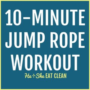 text reads 10-Minute Jump Rope Workout square image