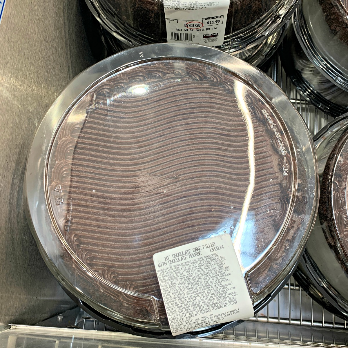 "10"" round chocolate cake from Costco"