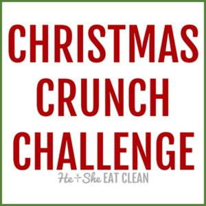 text reads Christmas crunch challenge