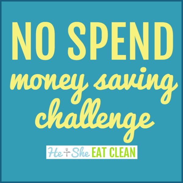 text reads no spend money saving challenge