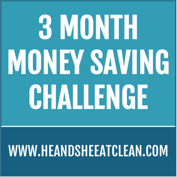 text reads 3 month money saving challenge