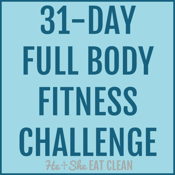 text reads 31 day full body fitness challenge