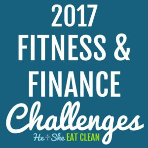 Text reads 2016 fitness and finance challenges