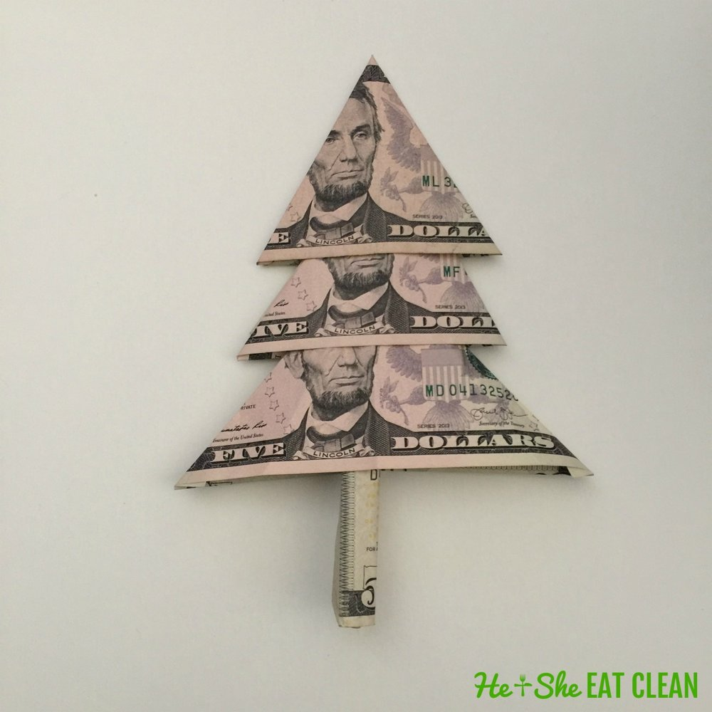 Dollar Bill Origami Christmas Tree - Buy this stock photo and ... | 1000x1000