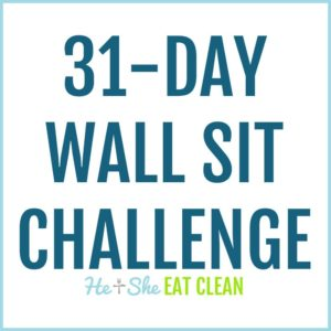 text reads 31-day wall sit challenge