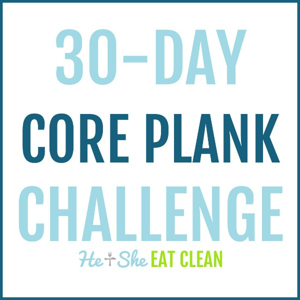 text reads 30 day core plank challenge