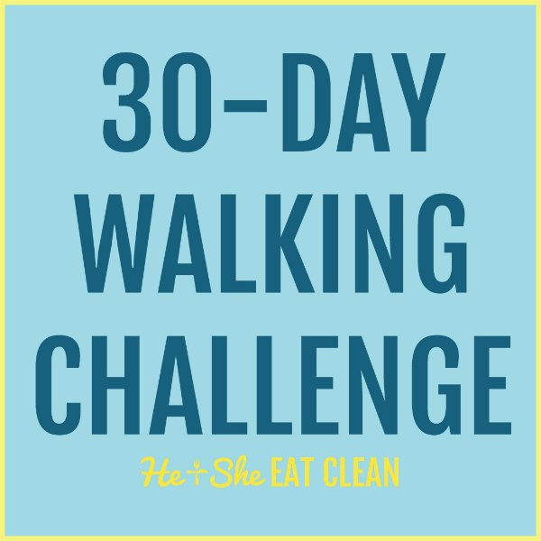text reads 30 day walking challenge