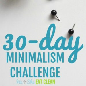 text reads 30-day minimalism challenge