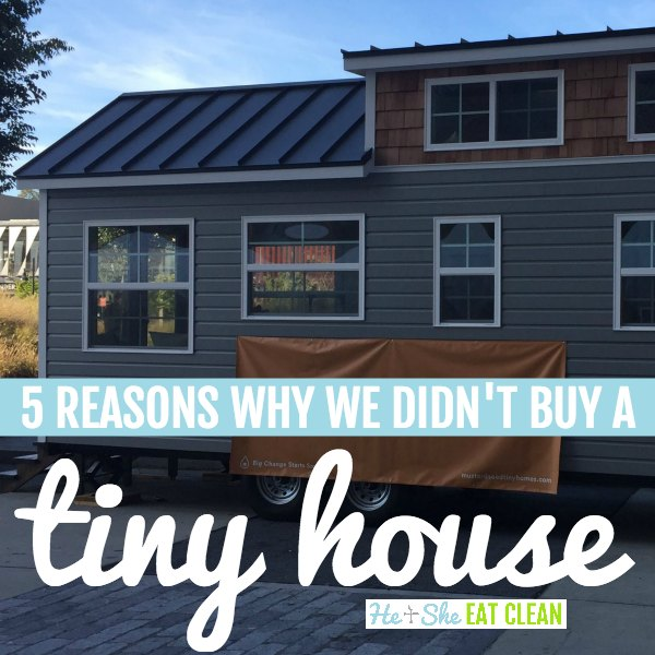 picture of a tiny home with text that reads 5 reasons why we didn't buy a tiny house