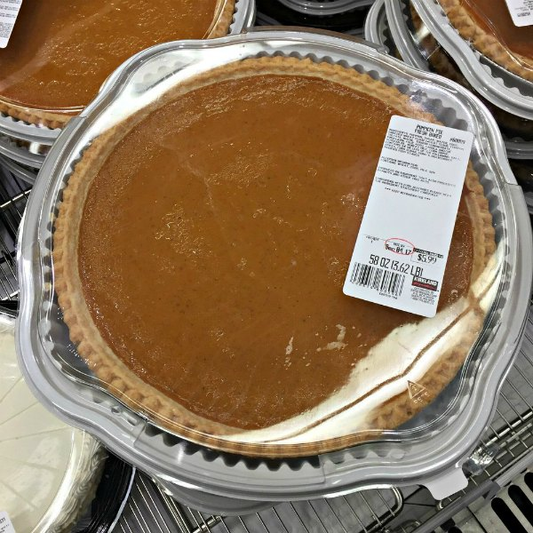 pumpkin pie from Costco