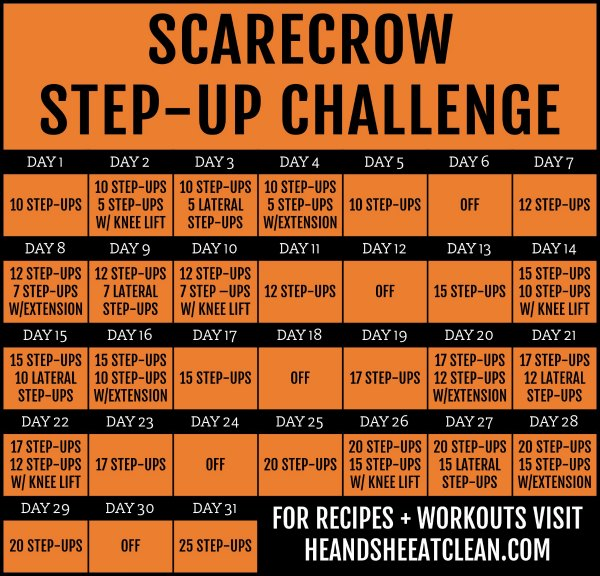 scarecrow fitness challenge chart