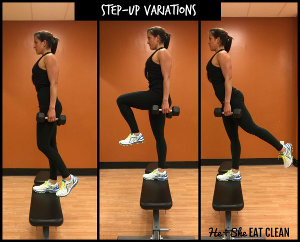 3 different variations of stepups