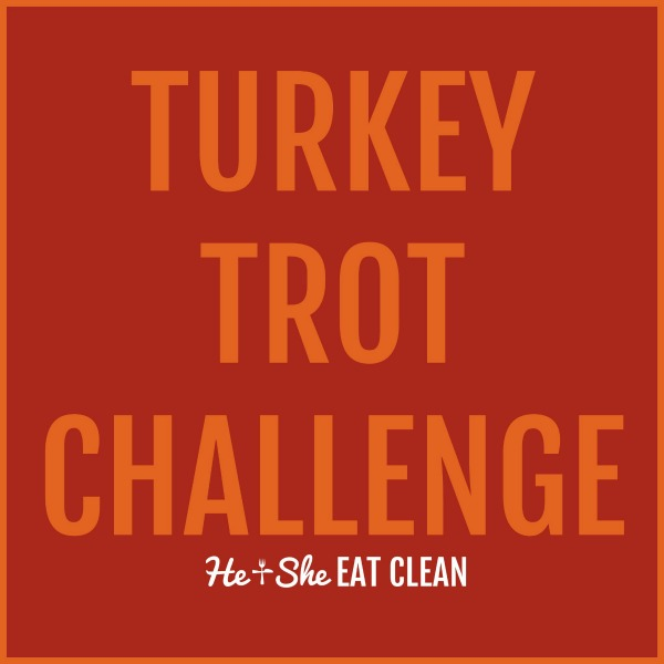 text reads turkey trot challenge