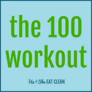 text reads the 100 workout