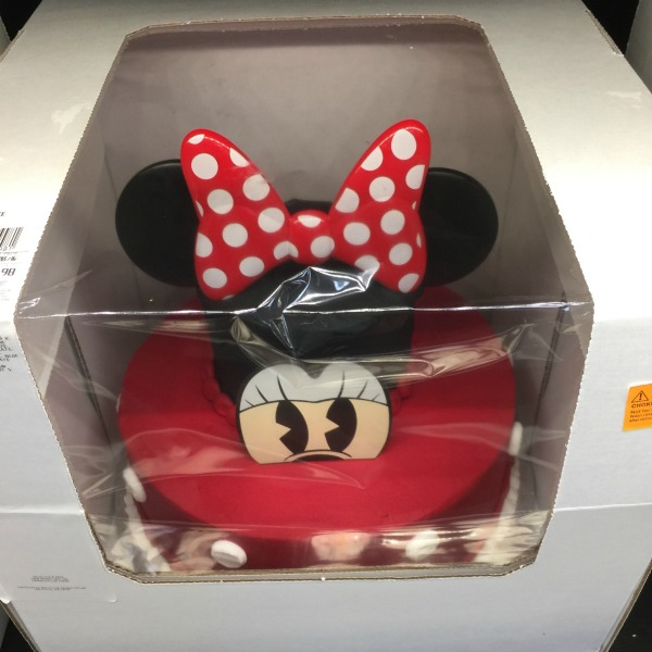two tier Minnie Mouse cake from Sam's Club
