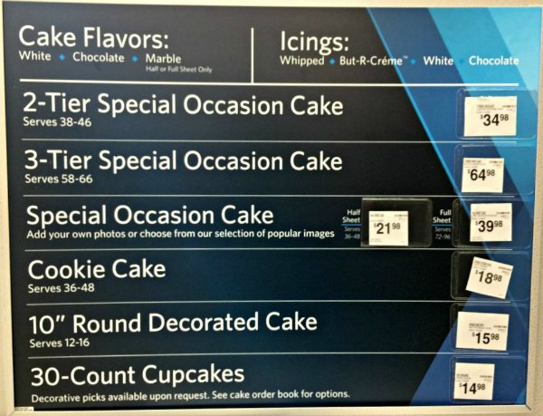 Cake Options Available From Sams Club