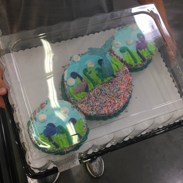 3 mermaid cake from Sam's Club