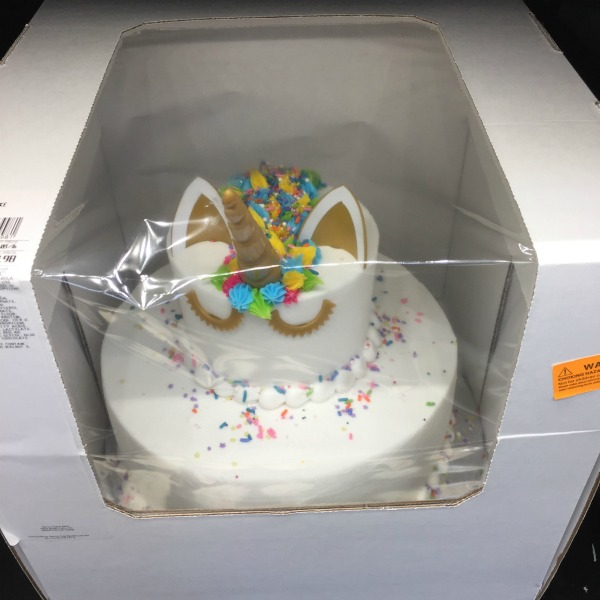 Unicorn Small Two Tier Cake From Sams Club White