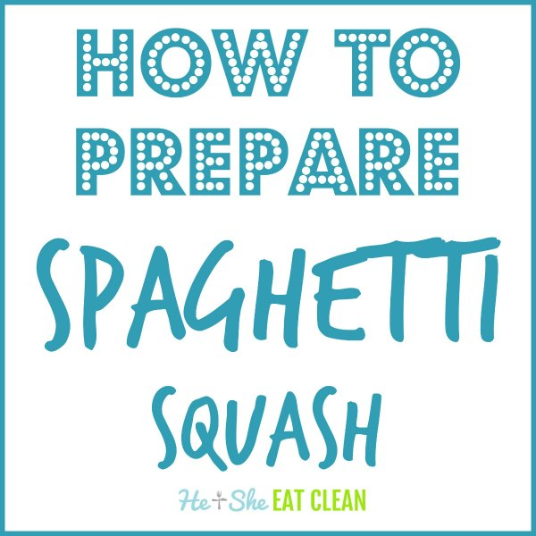 text reads how to prepare spaghetti squash