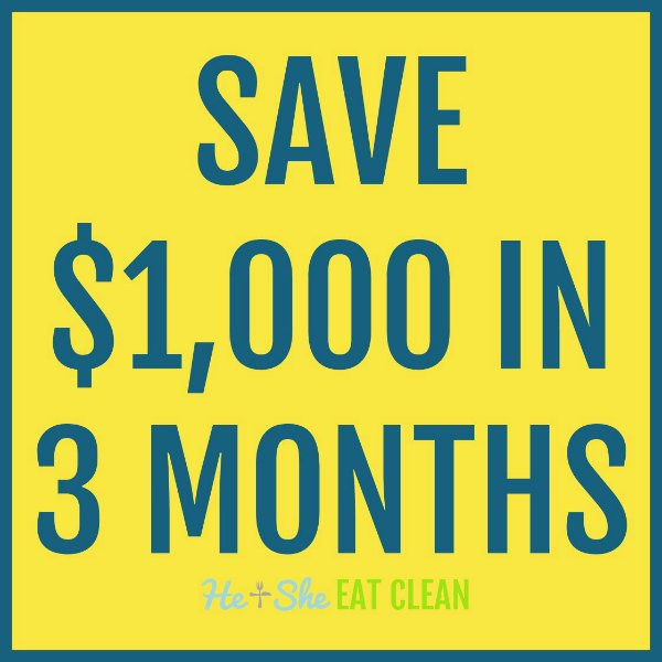 save $1000 in 3 months