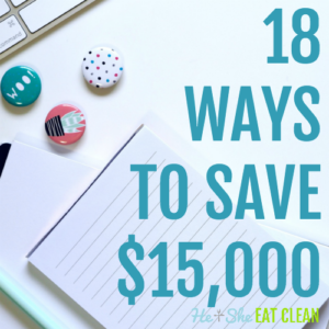 text reads 18 ways to save $15,000