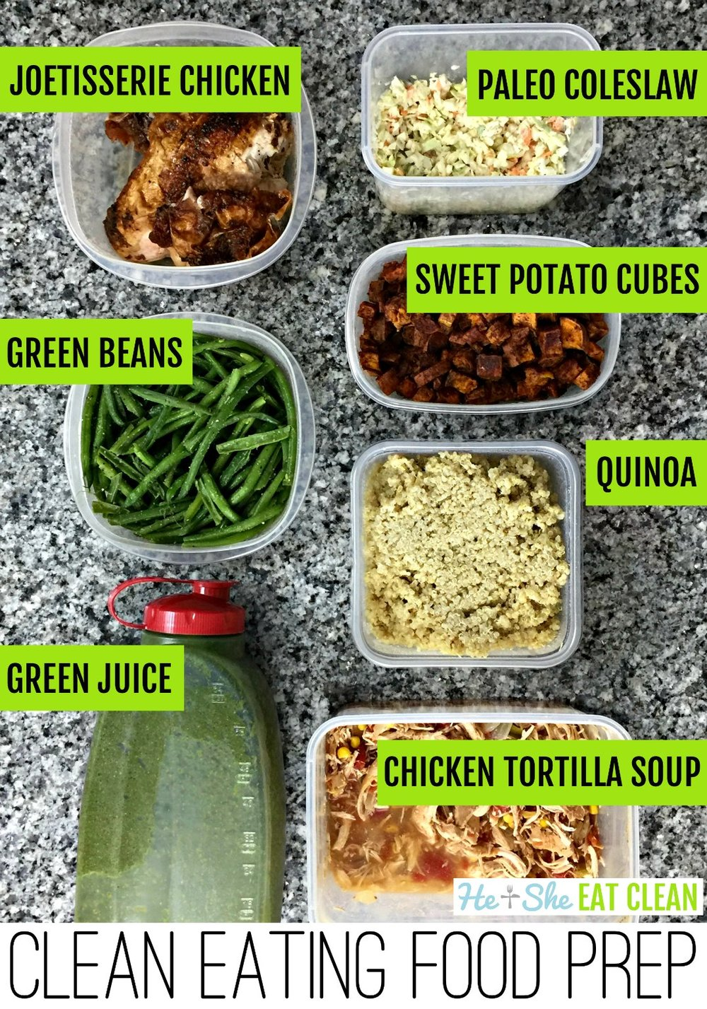 clean eating meal prep picture