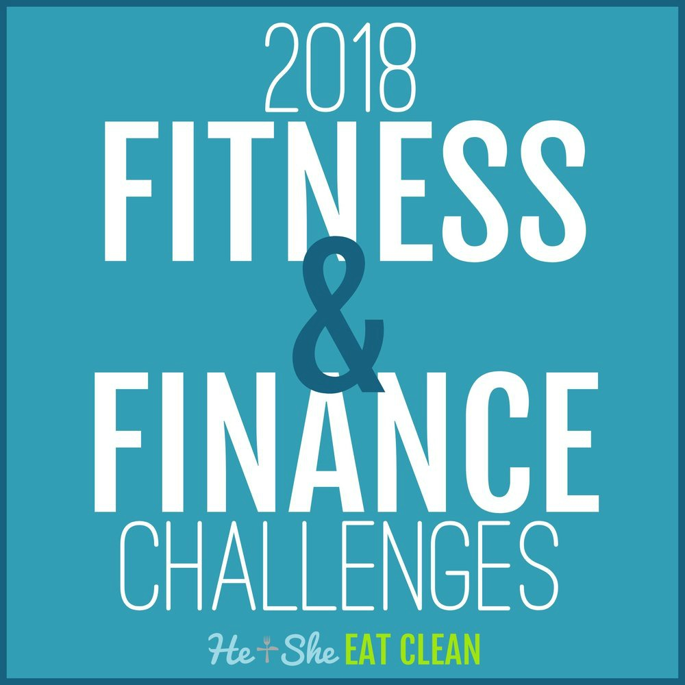 text reads 2018 fitness & finance challenges