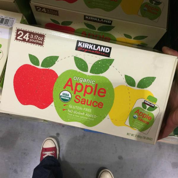 Costco Kirkland Organic Applesauce