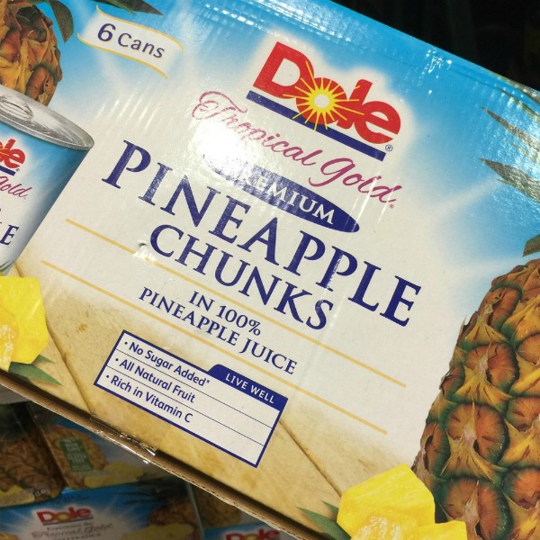 Dole Pineapple Chunks at Costco