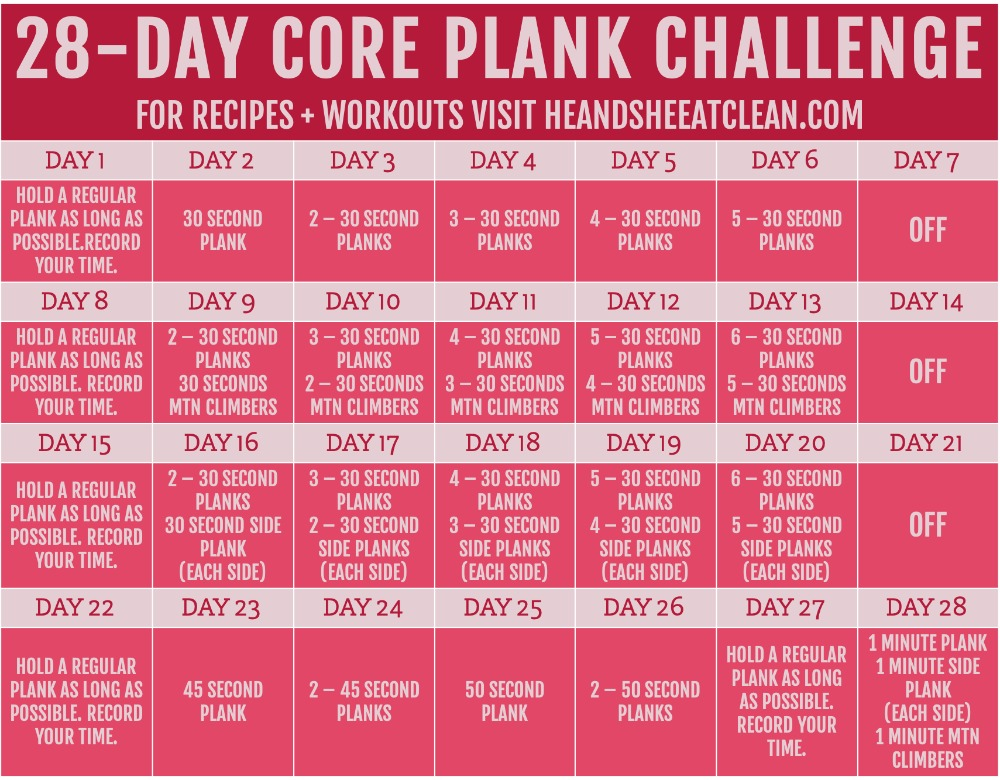 It is a picture of Clever Printable 30 Day Ab Challenge