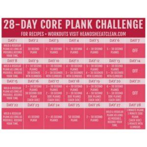 28-Day Plank Challenge