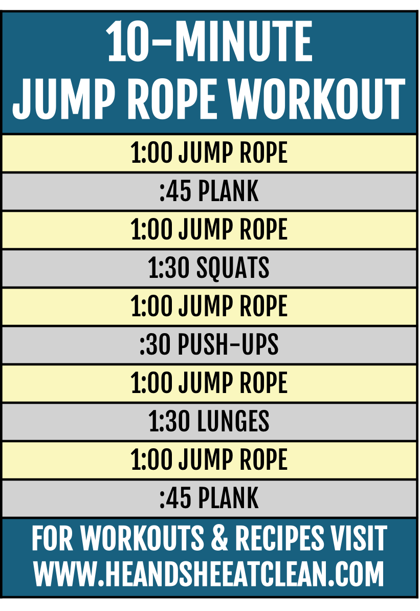 10-Minute Jump Rope Workout | He and She Eat Clean