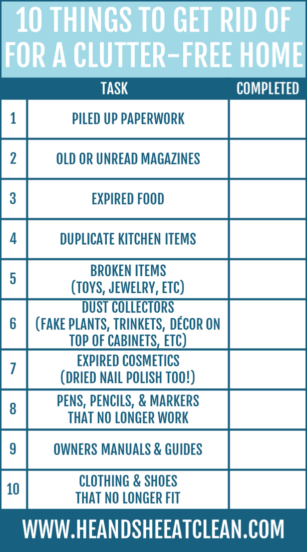 10 Things to Get Rid of for a Clutter-Free Home