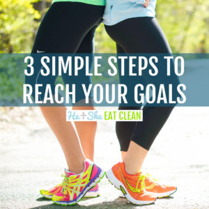 2 females standing back to back with text that reads 3 Simple Steps to Reach Your Goals