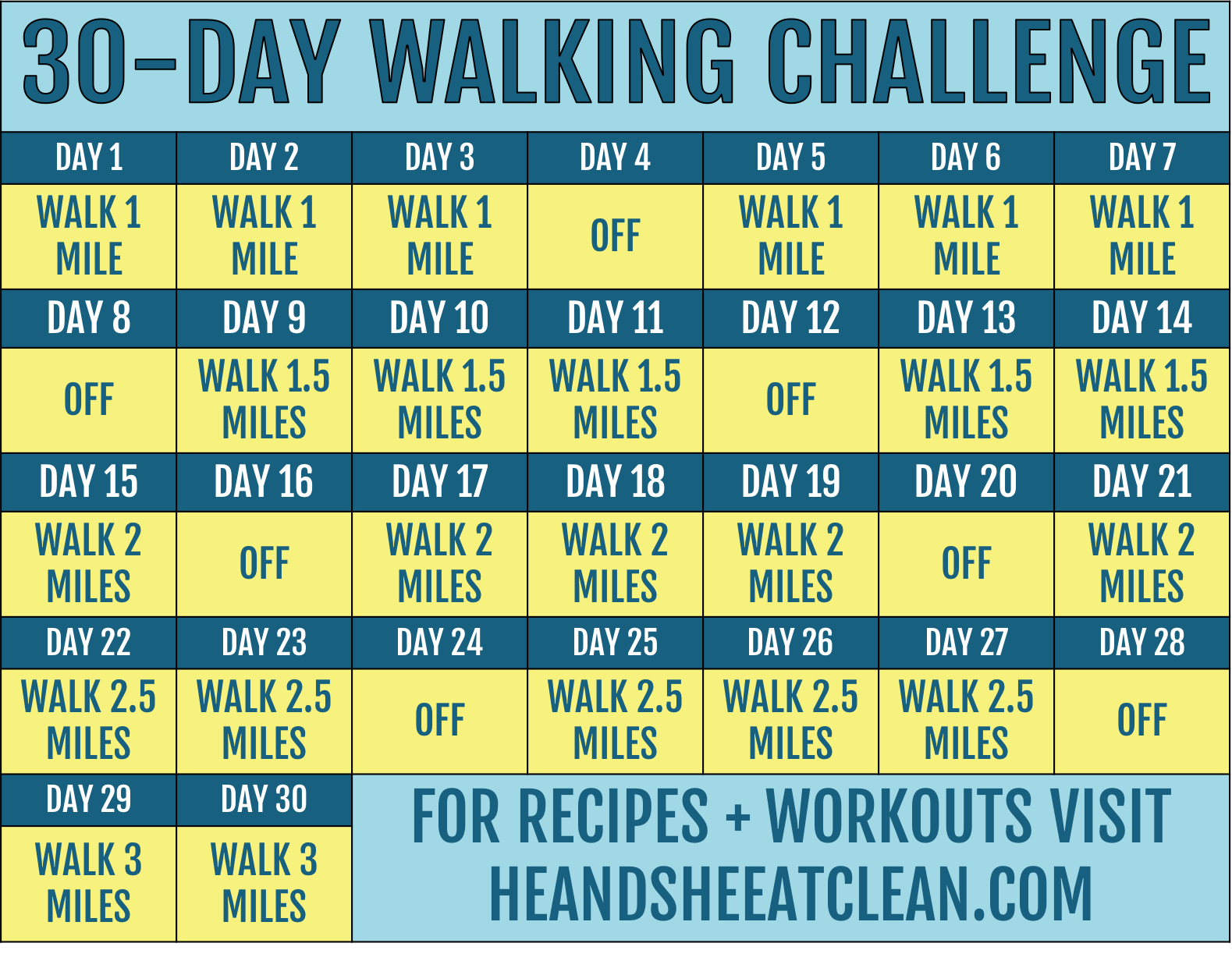 30-Day Walking Challenge