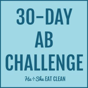 text reads 30-day ab challenge
