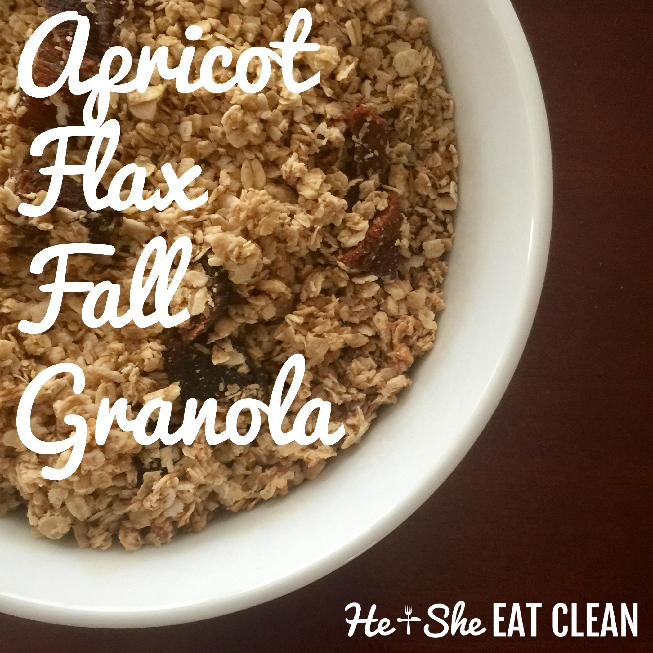 Apricot Flax Fall Granola