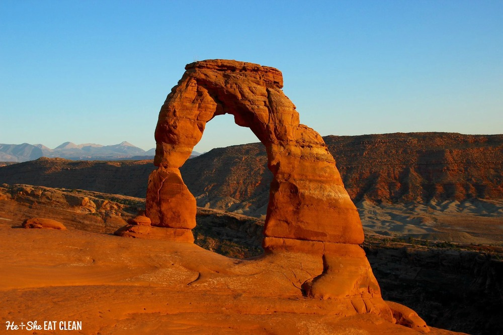 Delicate Arch in Arches National Park | He and She Eat Clean