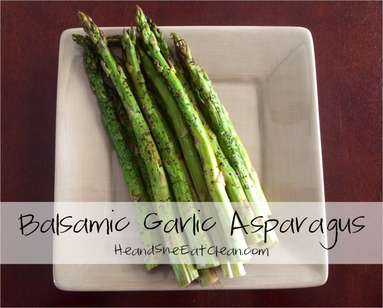 Balsamic Garlic Asparagus | He and She Eat Clean