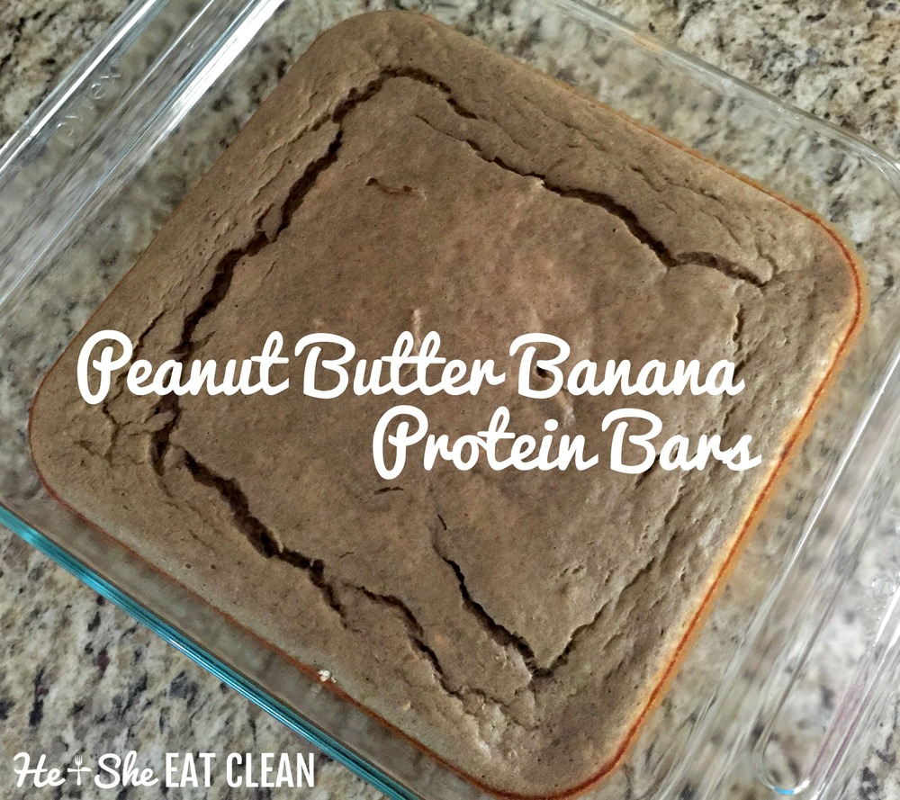 Clean Eat Recipe: Peanut Butter Banana Protein Bars | He and She Eat Clean