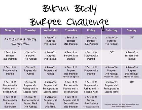 Bikini Body Burpee Challenge | He and She Eat Clean