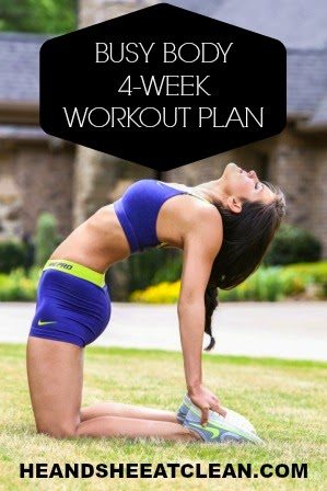 Introducing Our Busy Body 4 Week Workout Plan