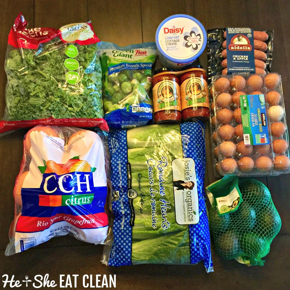 Clean eating grocery shopping at Costco