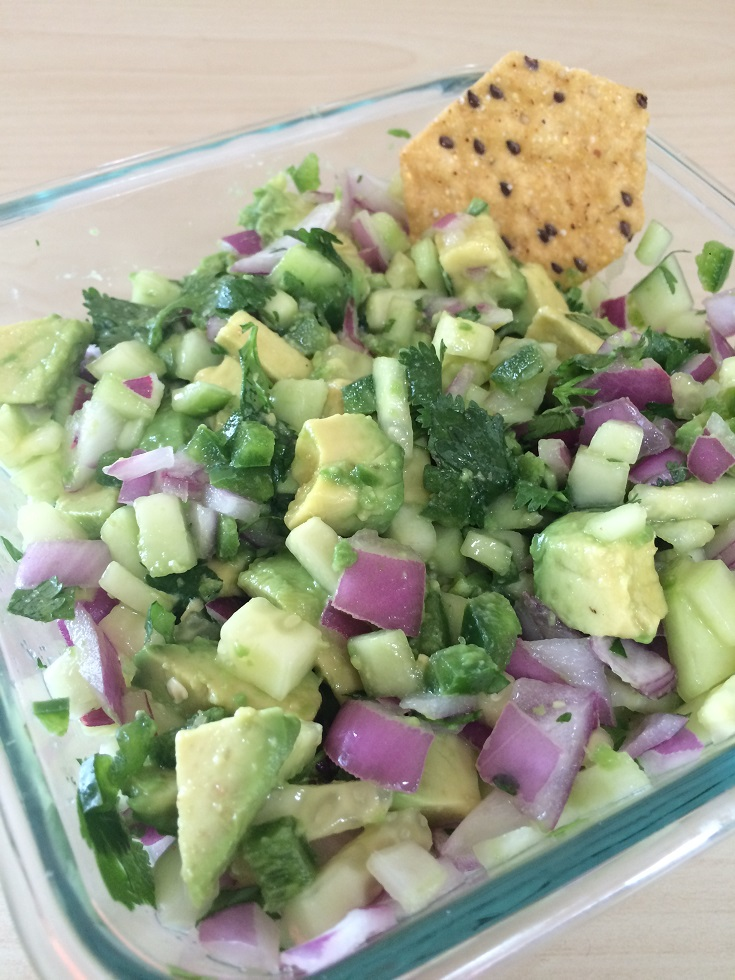 Cucumber Avocado Salsa
