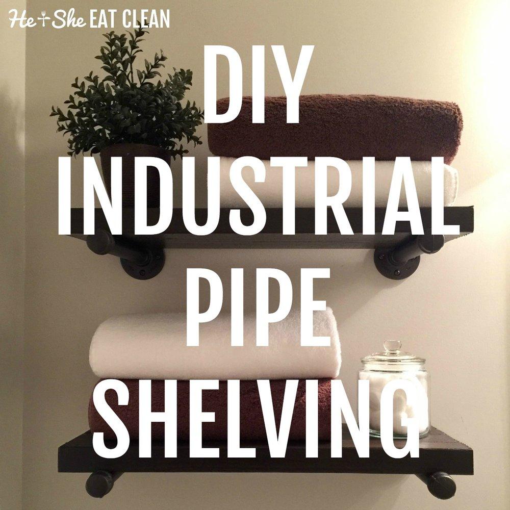 DIY Industrial Pipe Shelving