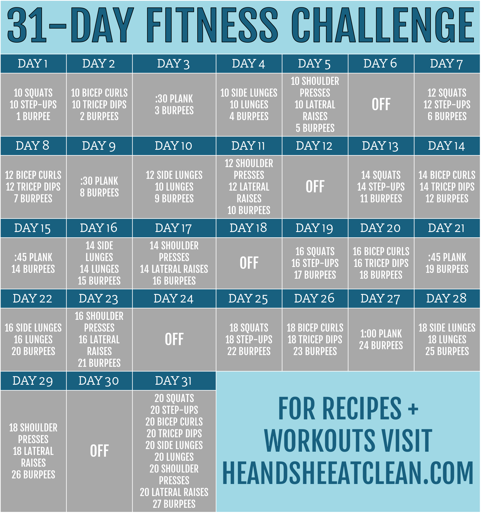 31-Day Full Body Fitness Challenge