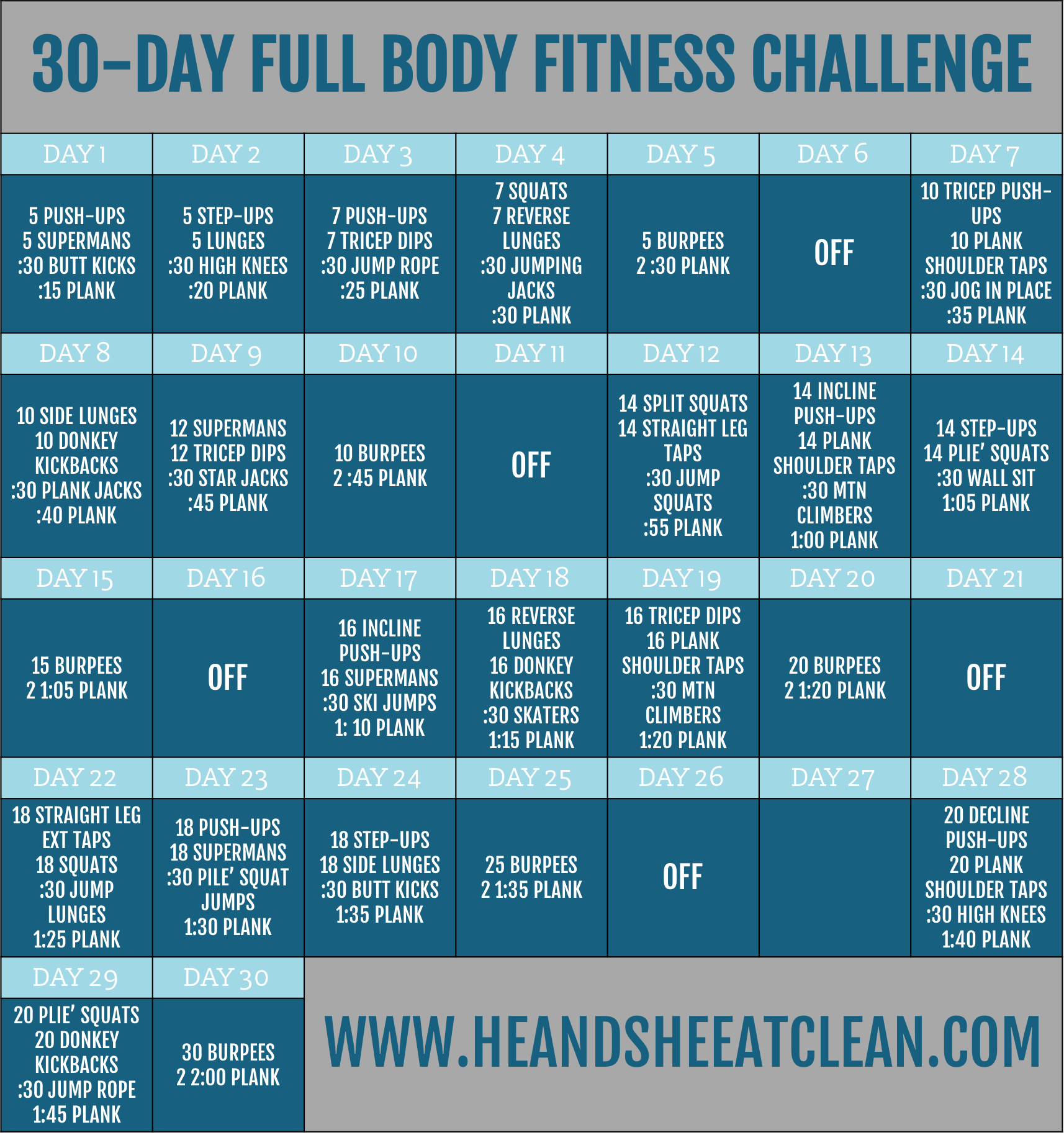 30-Day Full Body Fitness Challenge