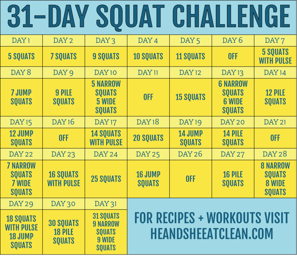 31-Day Squat Fitness Challenge | He and She Eat Clean