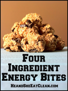 Four Ingredient Energy Bites | He and She Eat Clean