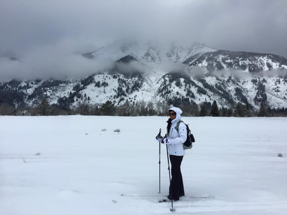 Cross Country Skiing through Grand Teton National Park in Jackson, Wyoming